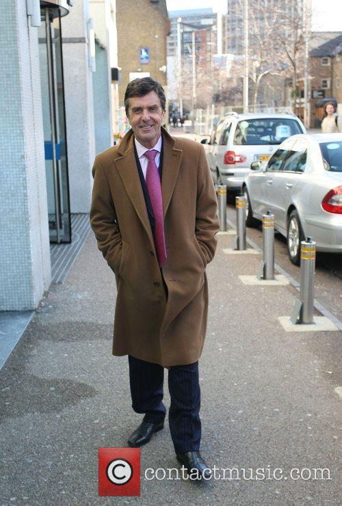 John Stapleton outside the ITV studios London, England