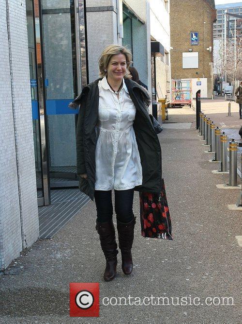 Penny Smith outside the ITV studios London, England