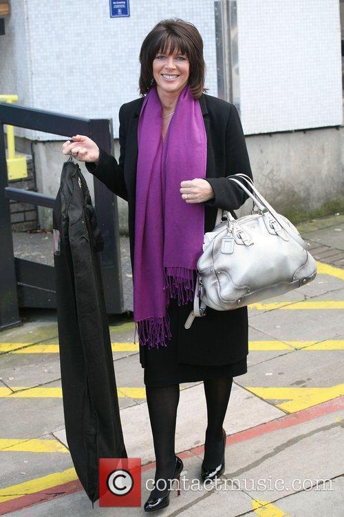 Ruth Langsford outside the ITV studios London, England