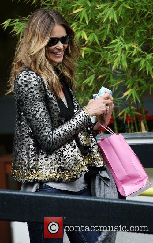 Elle Macpherson outside the ITV studios London, England