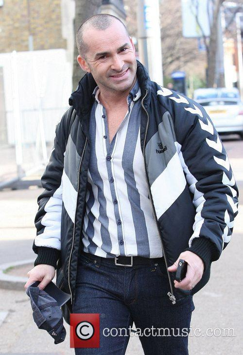 Louie Spence outside the ITV studios London, England