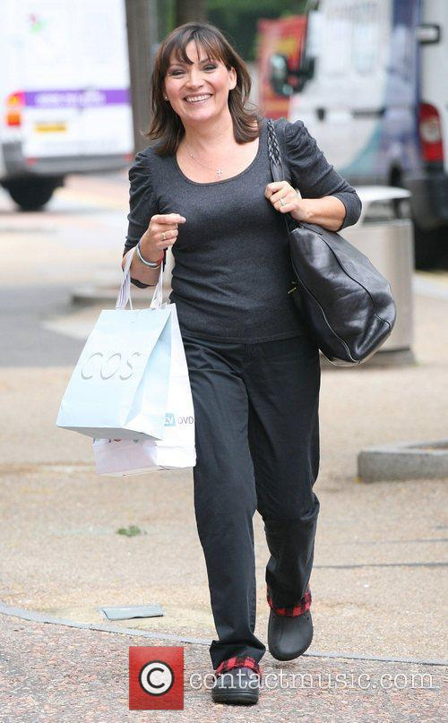 Lorraine Kelly leaving the ITV studios London, England