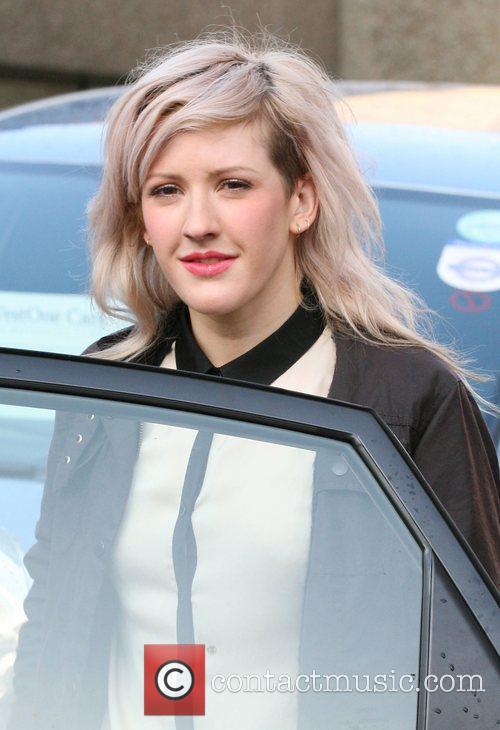 Ellie Goulding leaving the ITV studios London, England