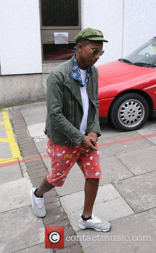 Pharrell Williams outside the ITV studios London, England