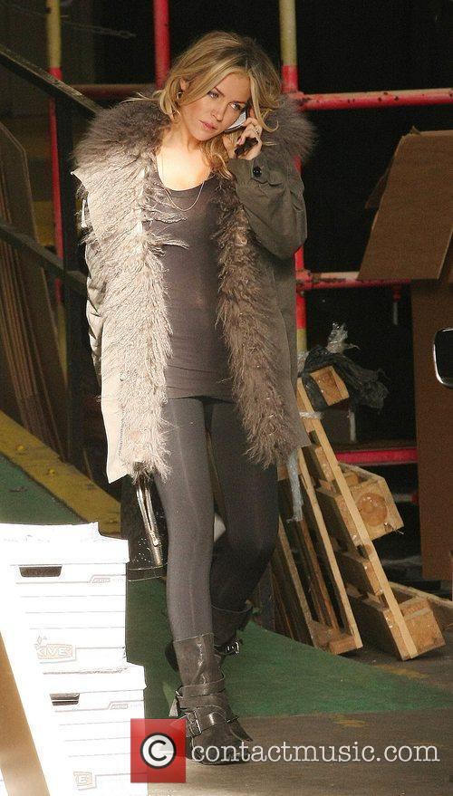 Abbey Clancy aka Abigail Clancy leaving the ITV...