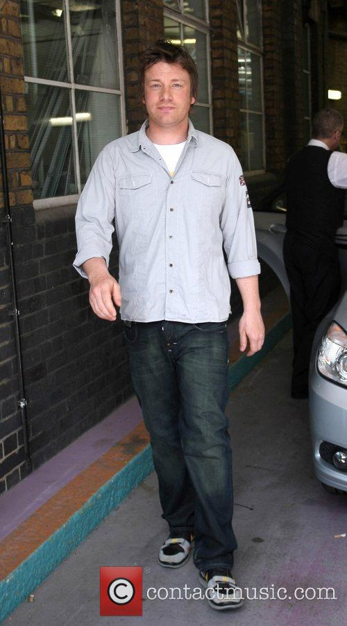 Jamie Oliver Celebrities outside the ITV television studios....