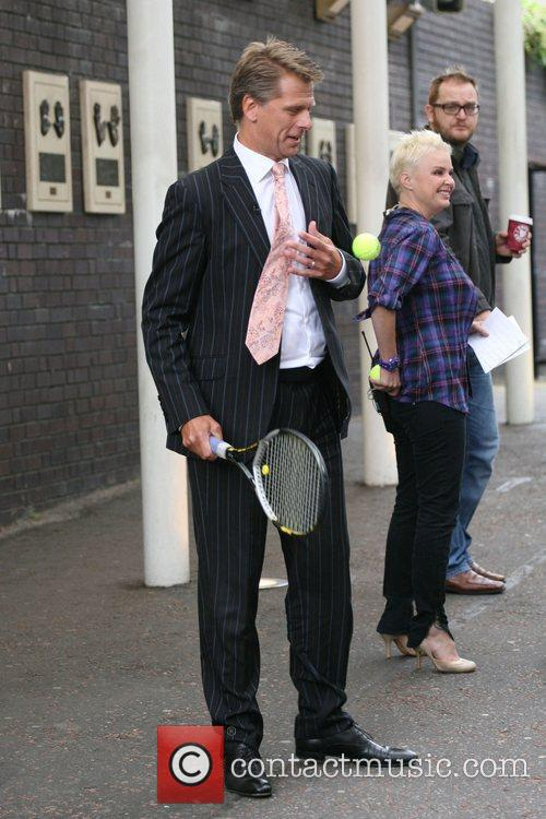 Andrew Castle seen leaving the ITV studios after...