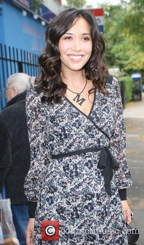 Pregnant Myleene Klass outside the ITV studios London,...