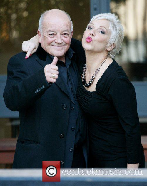 Tim Healy and Denise Welch outside the ITV...