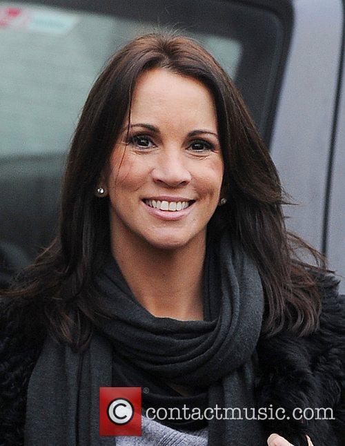 Andrea McLean Celebrities outside the ITV studios....