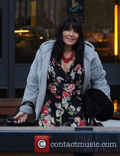 Zoe Tyler Celebrities outside the ITV studios....