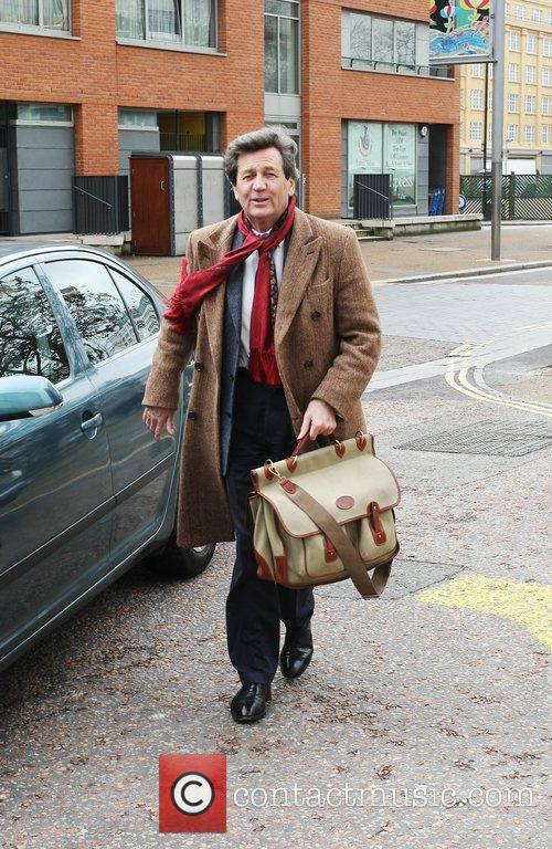 Melvyn Bragg outside the ITV Studios