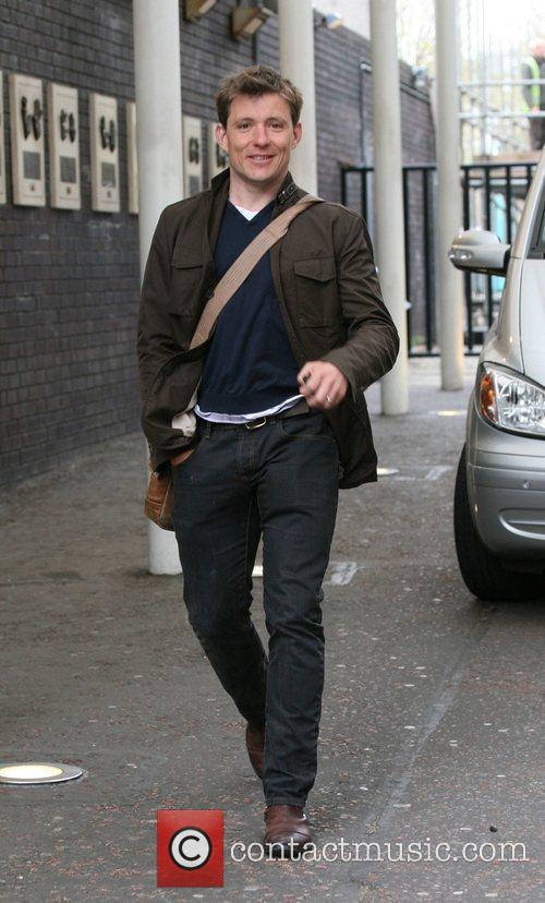 Ben Shephard Celebrities outside the ITV television studios....