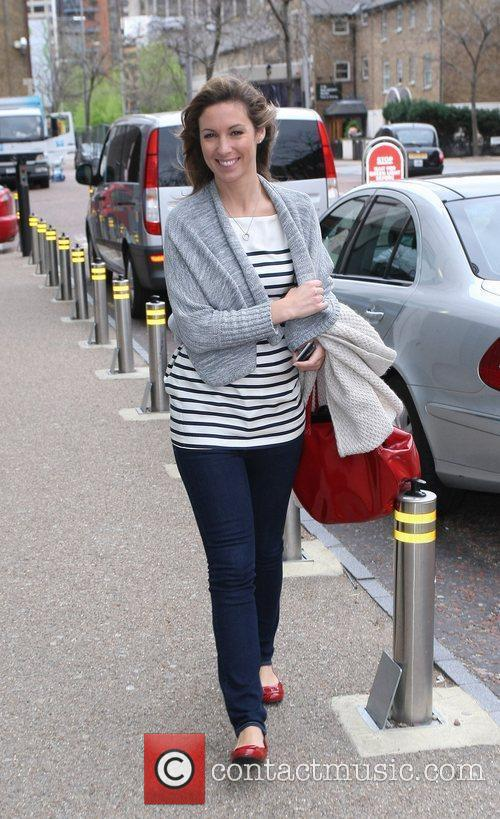Emma Crosby Celebrities outside the ITV television studios....