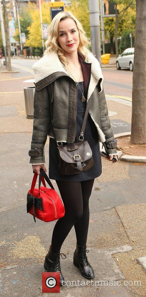 Alice Coulthard outside the ITV studios London, England