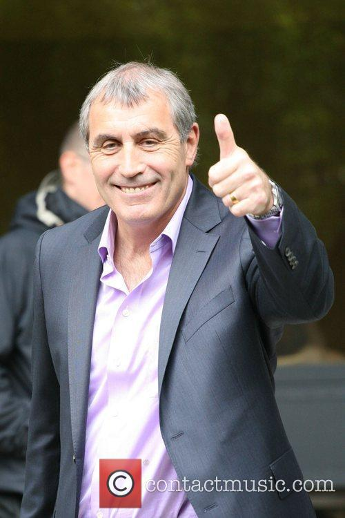 Peter Shilton seen leaving the ITV studios in...