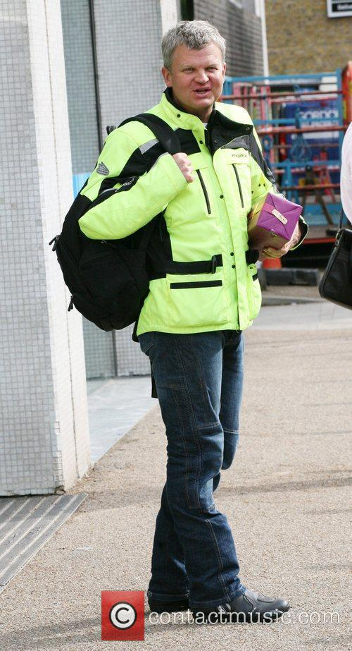 Adrian Chiles outside the ITV studios London, England