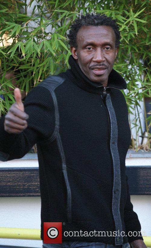 Linford Christie outside the ITV studios London, England