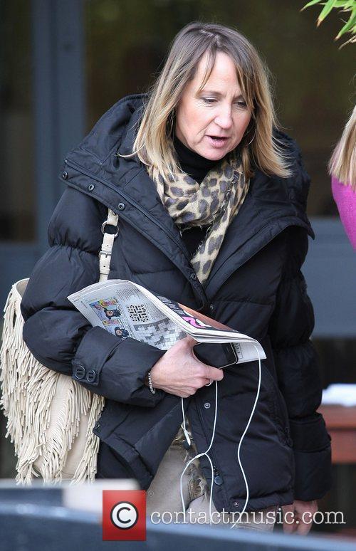 Carol McGiffin outside the ITV studios London, England