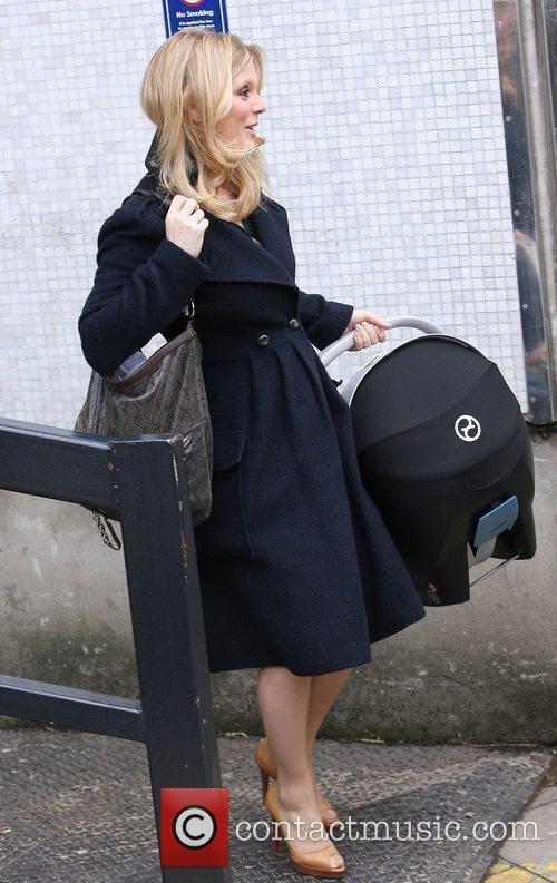 Emilia Fox outside the ITV studios London, England