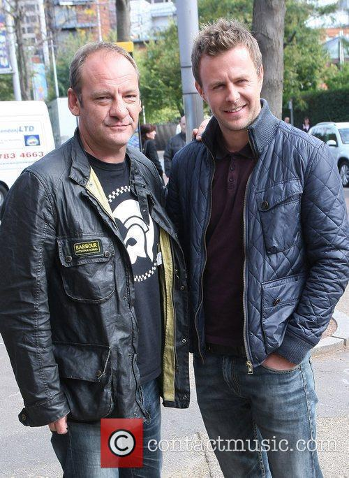 Nick Miles and Tom Lister  outside the...