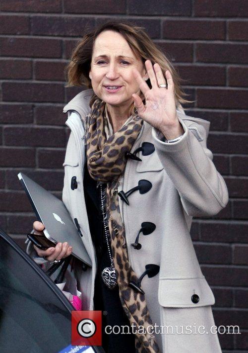 Carol McGriffith outside the ITV Studios London, England