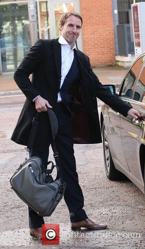 Gareth Southgate outside the ITV studios London, England