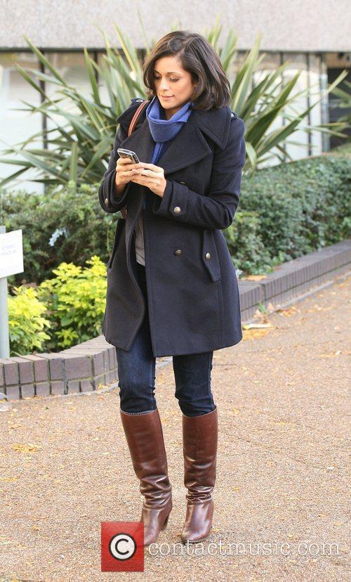 Outside the ITV studios