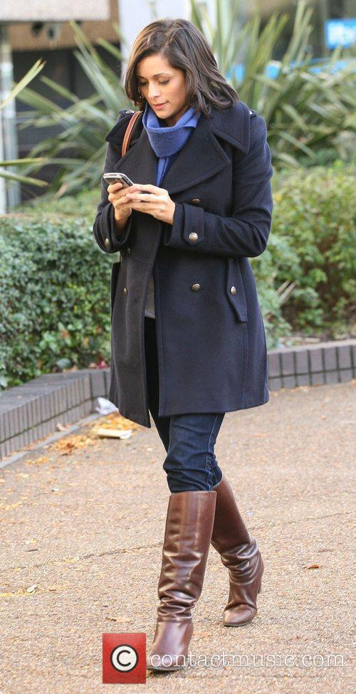 Lucy Verasamy outside the ITV studios London, England