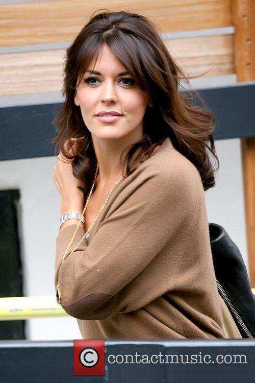 Danielle Lineker outside the ITV studios wearing a...