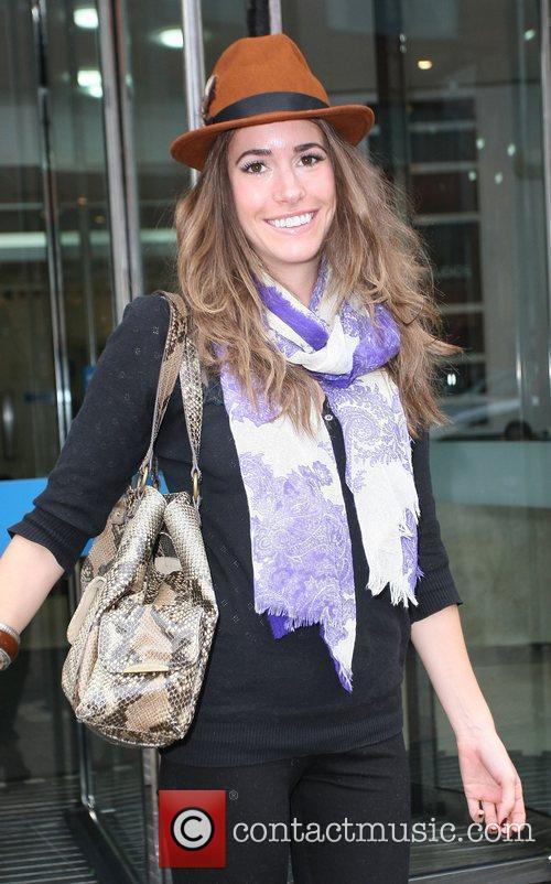 Louise Roe leaving the ITV studios London, England