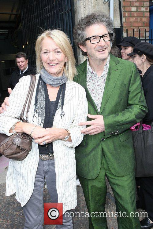 Trudie Goodwin and Jeff Stewart outside the ITV...