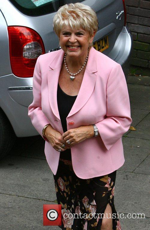 Gloria Hunniford leaving the ITV studios London, England...