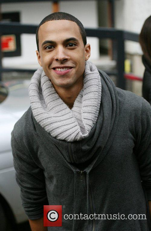 Marvin Humes of JLS outside the ITV studios...