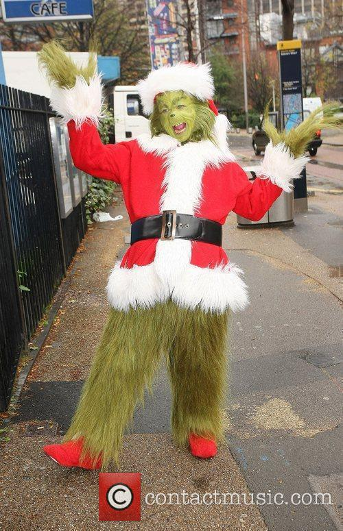 The Grinch outside the ITV studios London, England