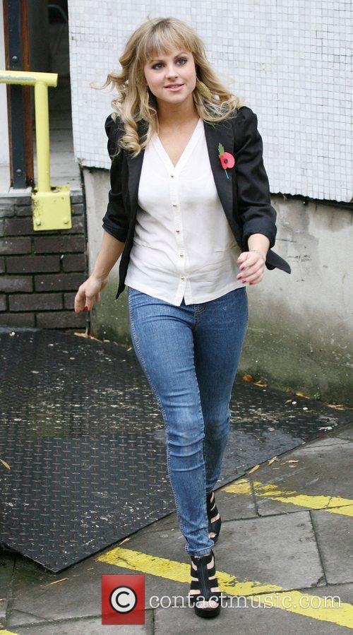 Tina O'Brien outside the ITV studios London, England