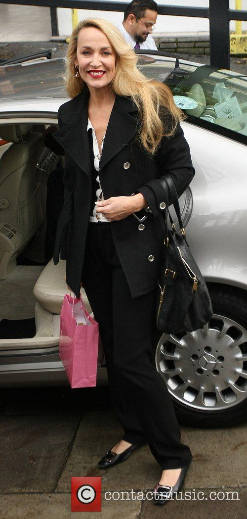 Jerry Hall Celebrities outside the ITV television studios...