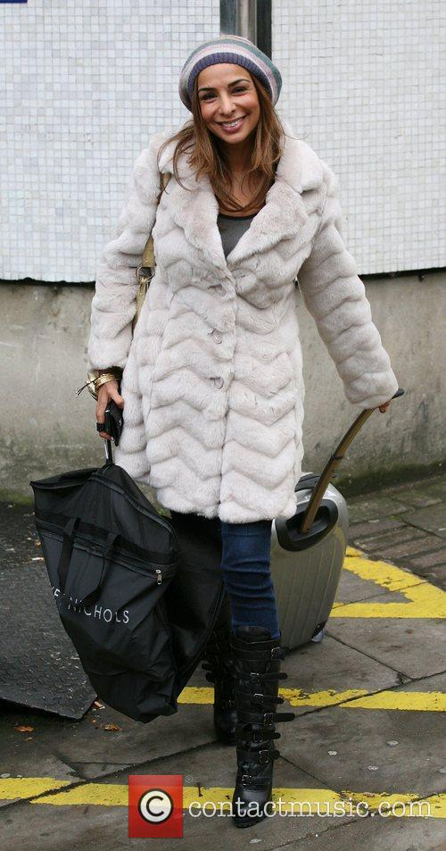 Shobna Gulati Celebrities outside the ITV television studios...