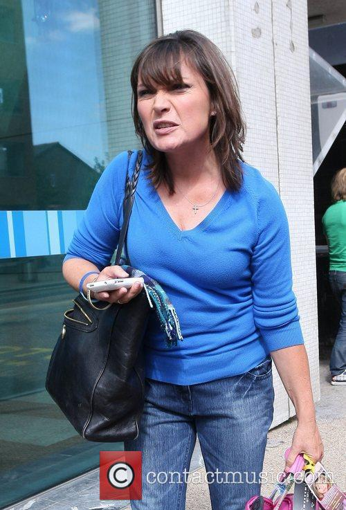 Lorraine Kelly outside the ITV television studios London,...