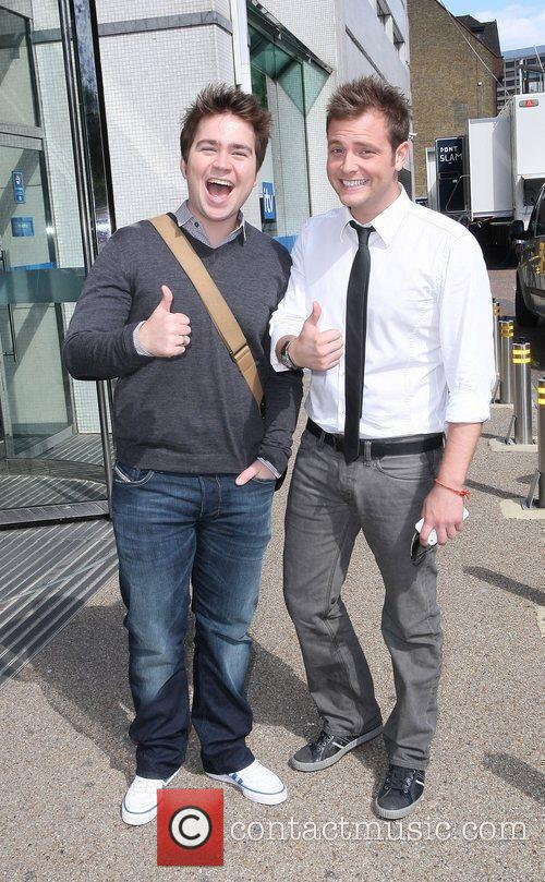 Sam Nixon and Mark Rhodes  outside the...