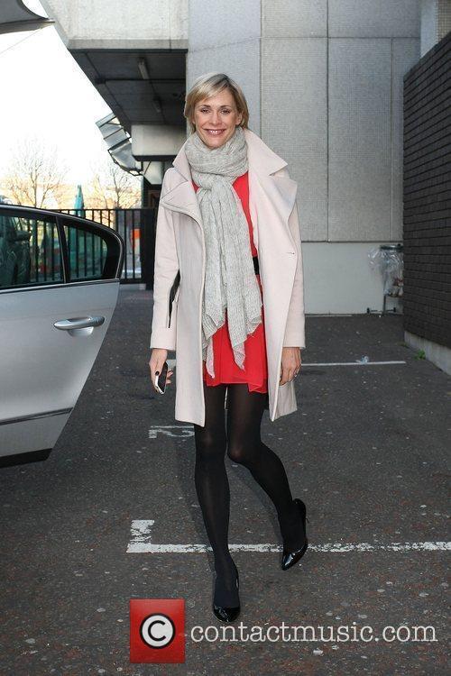 Jenni Falconer leaving the ITV studios London, England