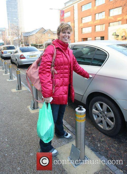 Kate Garraway leaving the ITV studios London, England
