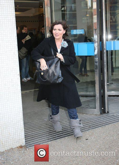 Leaving the ITV studios