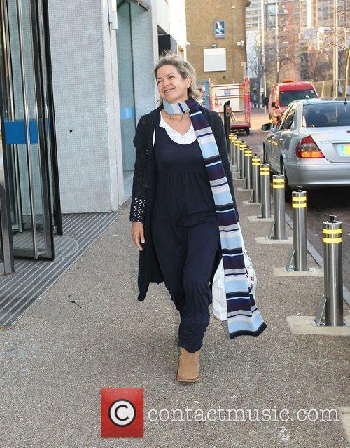 Penny Smith leaving the ITV studios London, England