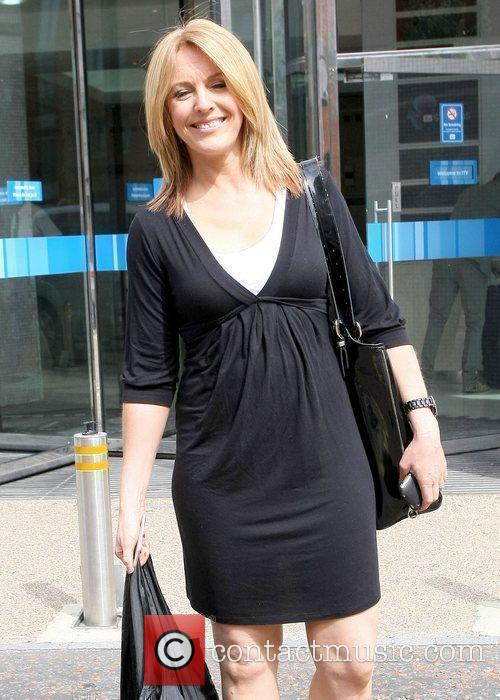 Helen Moreton Celebrities outside the ITV studios London,...
