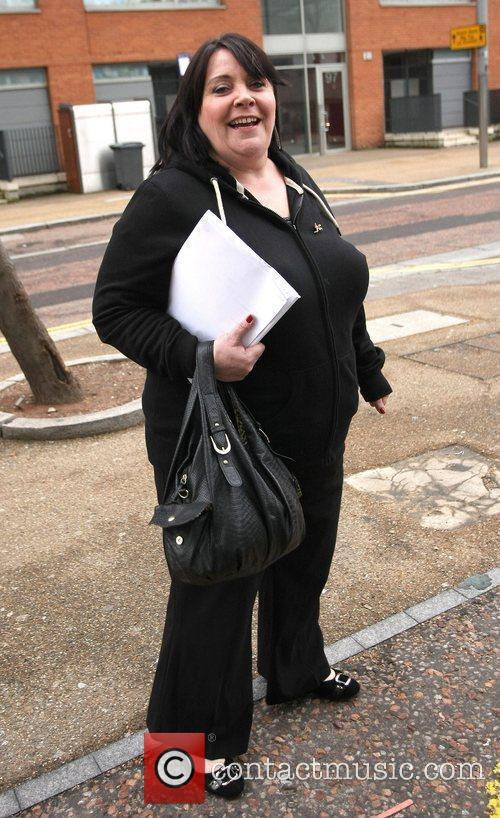 Mary Byrne leaves the ITV studios after a...