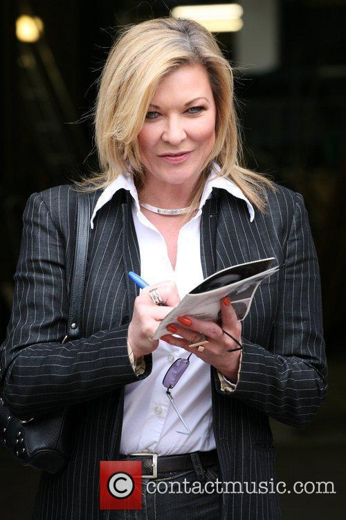 Claire King leaving the ITV studios London, England