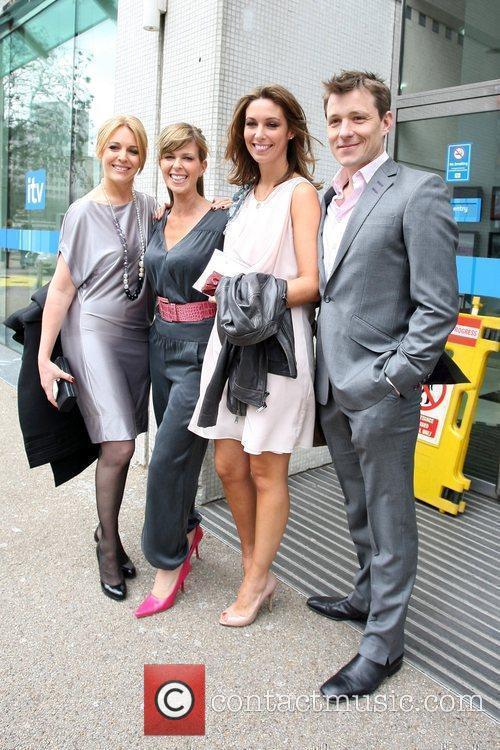 GMTV presenters leaving the ITV studios London, England
