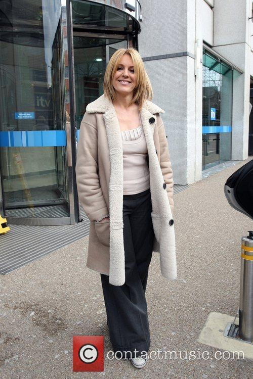 Helen Moreton leaving the ITV studios London, England