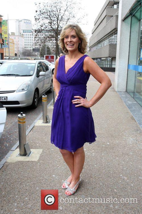 Kirsty McCabe leaving the ITV studios London, England